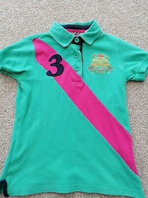 Joules Designer Girls T-shirt Polo Top Age 8 Great Condition