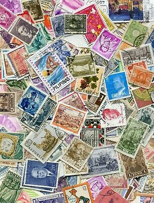 Rest of World Off-paper Stamp Mix 50 grams (approx 800 stamps) Good Mixture 0919