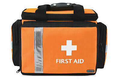 Pursuit Pro First Aid Bag; Orange, Small, Printed, Empty