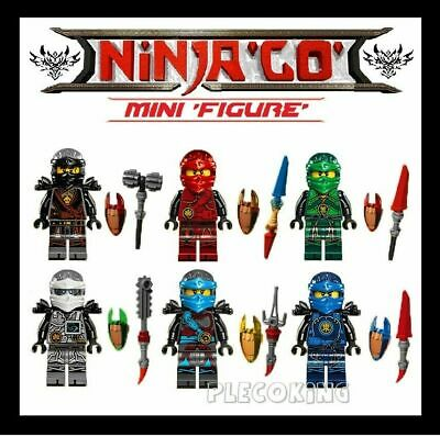 NINJAGO x 6 HANDS OF TIME - KAI,ZANE,COLE,JAY,NIA,LlOYD - fit lego