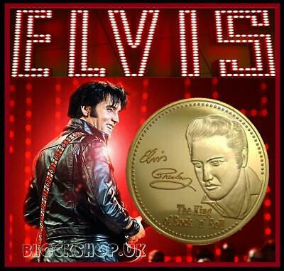 Elvis Presley - King Of Rock Band Music - Collector Coin Medallion - (Cn34)