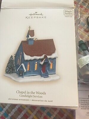 Hallmark Ornament! Chapel In The Woods! 10th In Series! New In Box!