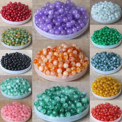 Wholesale 10MM 100Pcs Natural Stone Gemstone Round Spacer Stone Loose Beads Lot
