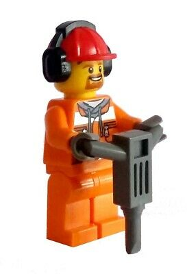 LEGO City Construction Worker & Pneumatic Drill Minifigure Town 60197 60198
