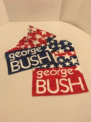 George Bush 1996 Presidential Rectangular Scarf, 46""