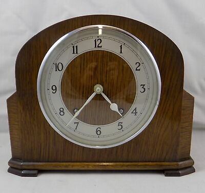 EXCELLENT VINTAGE 1950s GARRARD 8 DAY STRIKING MANTEL CLOCK - FULLY WORKING