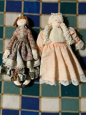 Antique Vintage Hand Made Dolls 40's And 50's