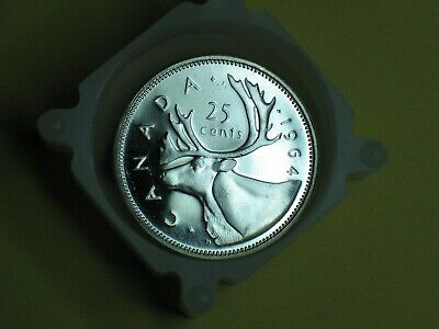 Brilliant Uncirculated 1964 Canada Silver 25Cents From Mint's Roll