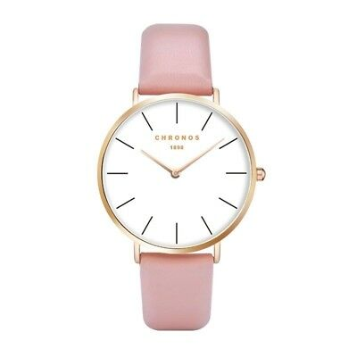 Lord Andrew Chronos - Coral & Gold Edition - Luxury Minimalistic Watch