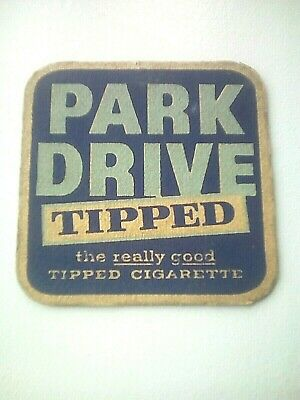 Vintage PARK DRIVE TIPPED / CIGARETTES / TOBACCO  -  Beermat / Coaster