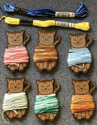 Anchor Variegated Threads X 8 On Cat Bobbins