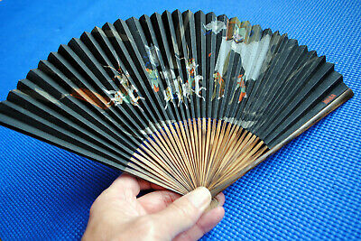 A very nice, vintage / antique Japanese fan. Hand-painted, signed by artist.