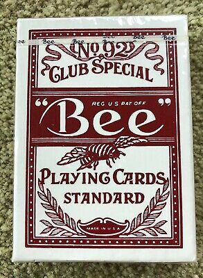Bee No. 92 Club Special Playing Cards - Red - Sealed - Vintage