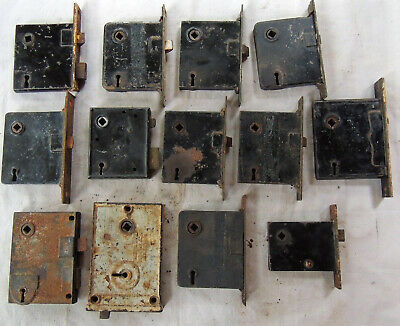 Lot of13 Mortise Entry Door Locks Latch Corbin Sargent Unbranded NO KEYS - AS IS