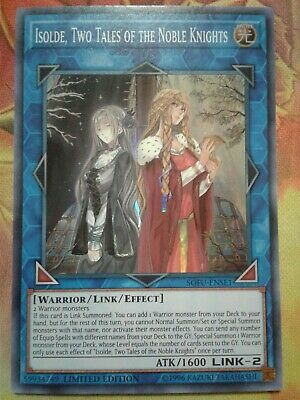 Yugioh Isolde, Two Tales of the Noble Knights Super Rare SOFU Near Mint