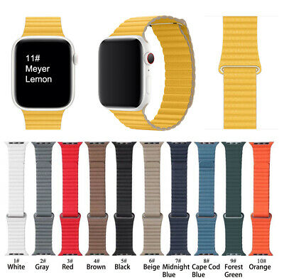 New Leather Loop Magnetic bracelet Band For AppIe Watch 38 42 40 44 Series1-5