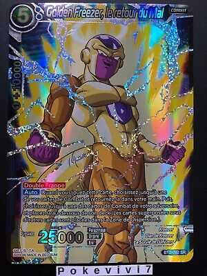 Postal Dragon Ball Super Golden Freezer, el Retour Del Mal BT2-062 Sr Dbz Fr New