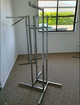 4 Way Shop Clothing Racks