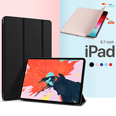 "iPad 9.7"" 5/6th Gen 2018/2017 Air 1 2 Shockproof Smart Cover Case Back Stand"
