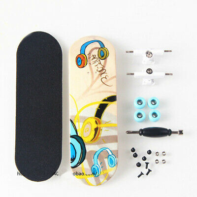 Music Notes Complete Wooden Fingerboard Finger Skate Board Grit Foam Tape Wood
