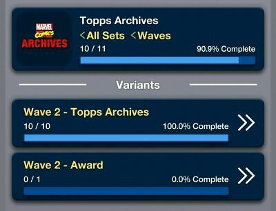 Topps Marvel Collect Card Trader Topps Archives Wave 2 Set: Award Ready Digital