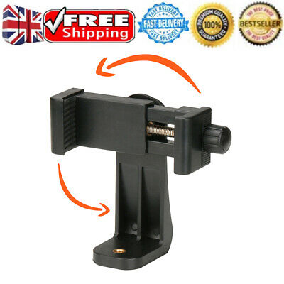 Universal Mobile Phone Clip Bracket Holder Mount for Monopod Tripod Stand Black