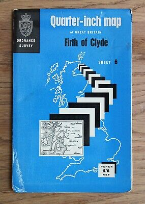 Ordnance Survey Map FIRTH OF CLYDE 1/4 inch to 1 mile Scotland Scottish Sheet 6