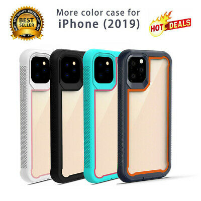 For iPhone 11 Pro Max 2019 Case Hybrid Heavy Duty Shockproof Clear Back Cover HH