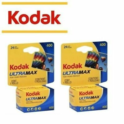 2 Rolls - KODAK Ultramax 400 ISO 24 EXP 135-24 35mm Color Print Film US