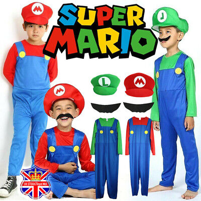 Children S Super Mario Bros Luigi Costume Kids Halloween Boys