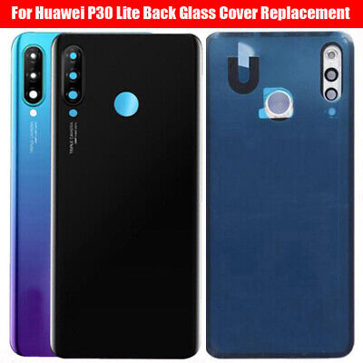 OEM Huawei P30 Lite Rear Glass Battery Back Cover Housing Adhesive+Camera Lens