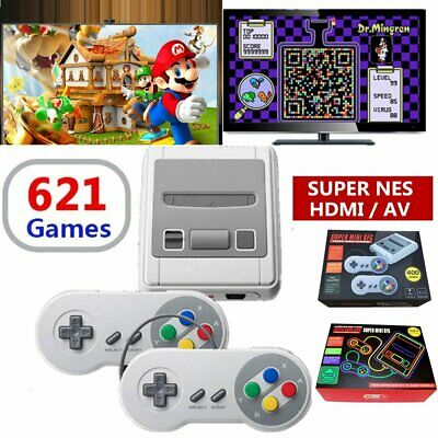 HDMI Mini Retro TV Game Console for Super Ninten Built-in 621 Games Controllers