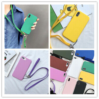 With Lanyard Strap Cross Body Cell Phone Case For iPhone6 11 Pro XS MAX 7 8 Plus