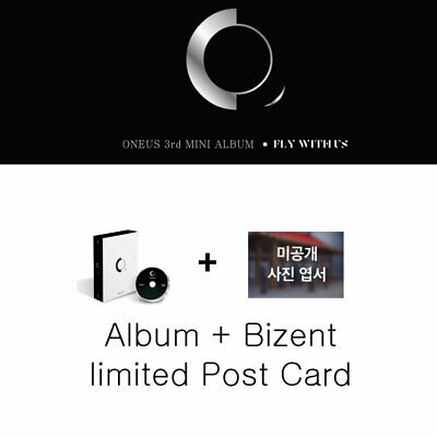 ONEUS 3rd Mini Album [FLY WITH US] All Package + BIZENT PreOrder PostCard