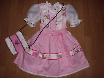 "NEU  Kinder Dirndl  gr. 110/116   mit Täschchen   ""MADE WITH LOVE"""