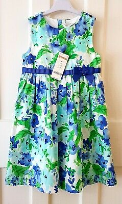 Girls Gymboree Floral Print Cotton Dress, Age 4-5 Years, Bnwt, Party/Occasion