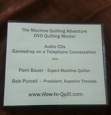 Penny Halgren Quilting Audio CD Eavesdrop on a Telephone Conversation Crafts