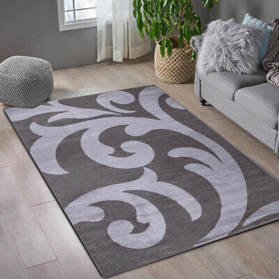 New Stylish Dark Grey Small Extra Large Soft Thick Floor Carpets Mat Rugs Sofia