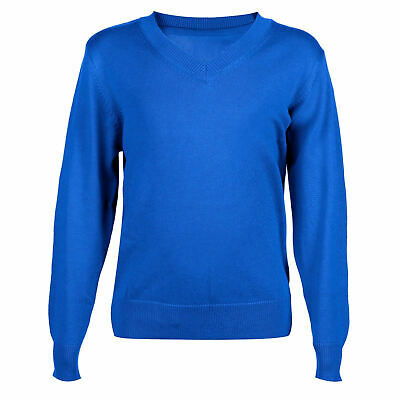 New M&S Unisex Girls Boys School Sweater Jumper  Royal Blue 4 5 6 7 8 years