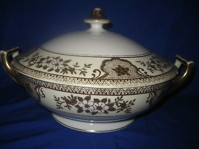 Meito Hand Painted Porcelain  Japanese Tureen