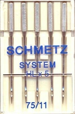 Schmetz Needles Hl X 5----75/11- - 5 Packs