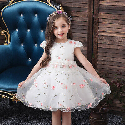 Flower Girls Toddler Baby Party Dress Kids Bridesmaid Formal Tulle Tutu Dresses