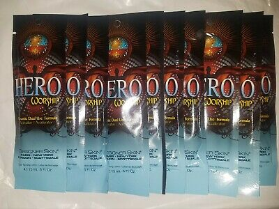 Designer Skin Hero Worship Tanning Lotion Packets Lot of 10