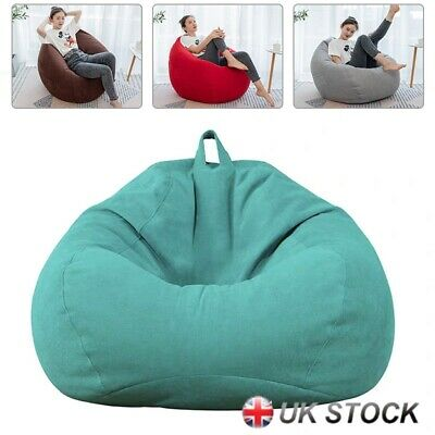 Large Bean Bag Chairs Couch Sofa Cover Indoor Lazy Lounger For Adult/Kids UK