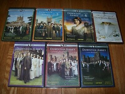 Brand New Sealed. Downton Abbey the complete series on DVD. Seasons 1-6 + bonus.