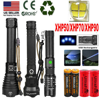 990000lm XHP90 XHP70 XHP50 Super Bright USB Rechargeable 18650 Flashlight Torch