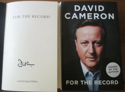 David Cameron-For The Record-Limited Signed Edition