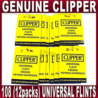 108x GENUINE CLIPPER LIGHTER FLINT Universal Flints Fits All Types of Lighters