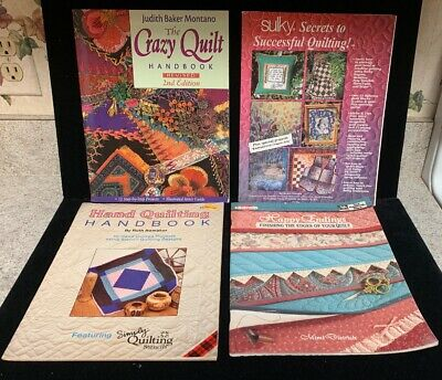 4 Quilting Books:Happy Endings, The Crazy Quilt , And More! (BK12)