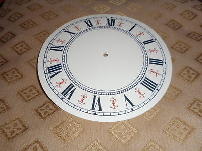 "Round Vienna Style Paper (Card) Clock Dial- 5"" M/T-GLOSS CREAM- Parts/Spares"